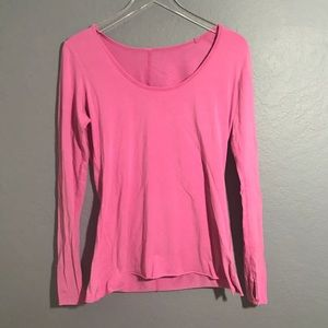 Lululemon pink long sleeve running shirt 6